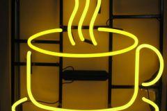 Neon-koffiekop