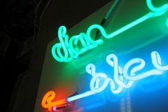 Neon-kunstwerk